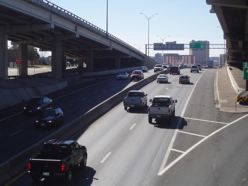 Traffic could be much busier than this on I-35 this weekend because of numerous events at UT and a temporary closure at Ben White Blvd.