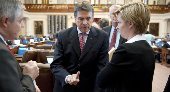 Gov. Perry hopes tax cuts will keep the state's economy running strong.