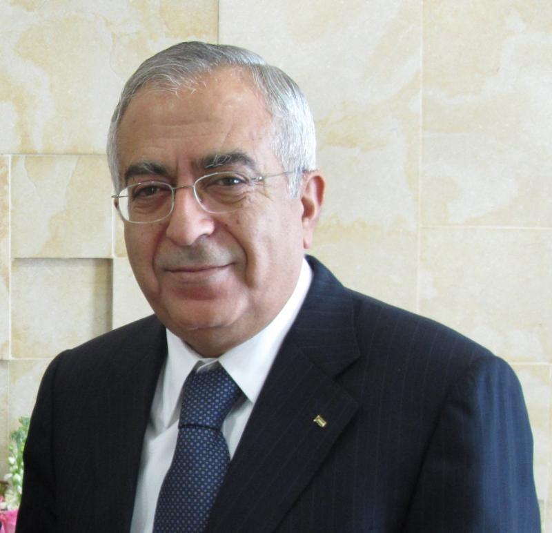 Palestinian PM Salam Fayyad.