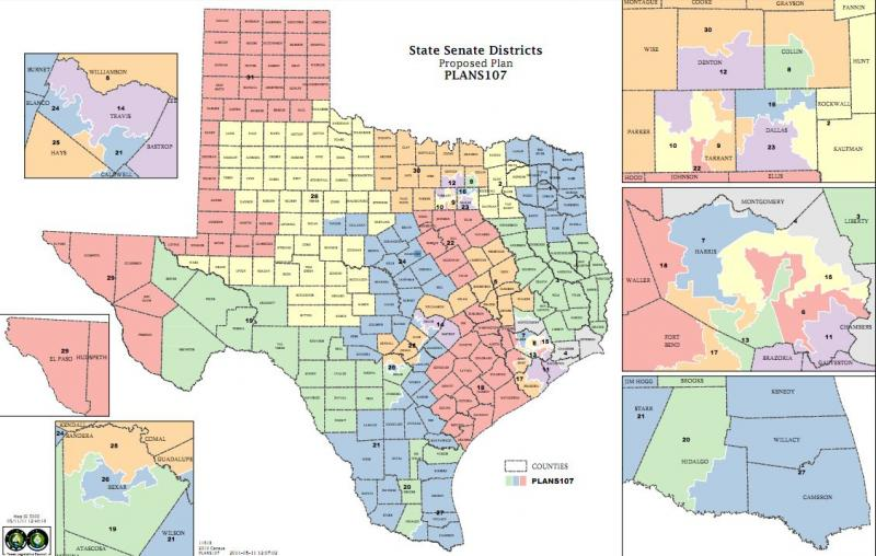 The proposed Senate map has Democrats in Fort Worth and Austin upset.
