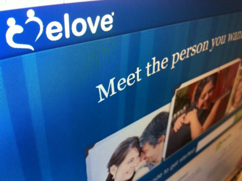 Screen shot of the eLove website.