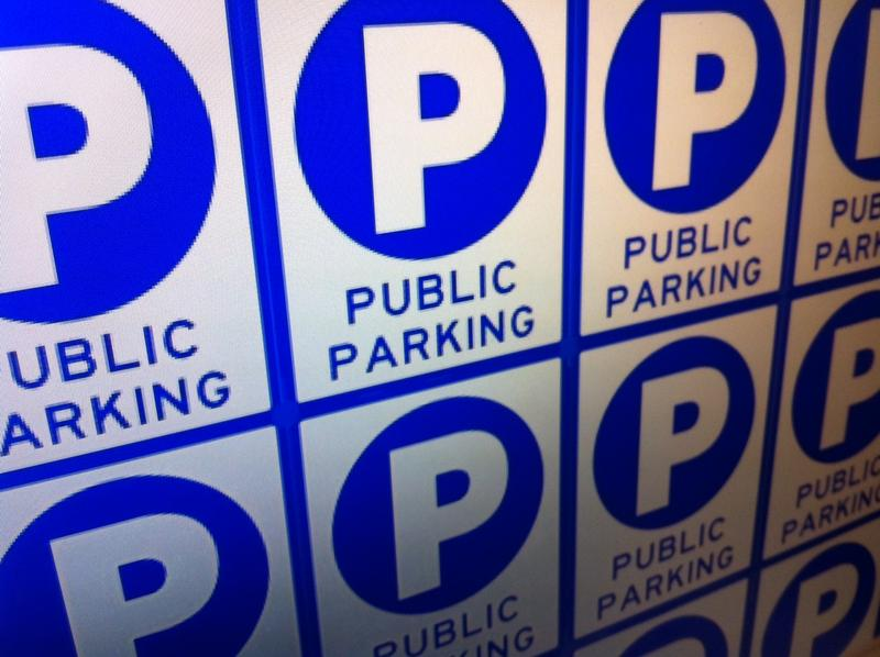 Signs that look like this will be installed in 44 locations downtown to direct people to off-street parking.