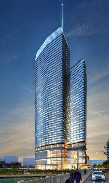 Rendering Of Manchester Financial Group S Planned Hotel In Downtown Austin Near The Convention Center