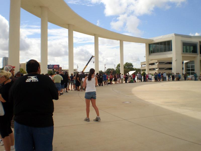 The line forms at the Long Center where eager Austin residents audition for a contestant spot on the weight-loss reality show.