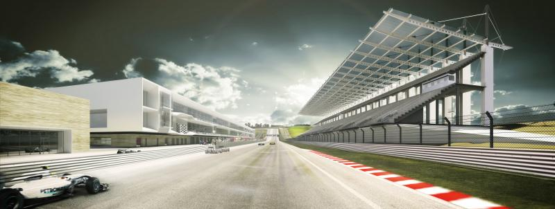 The first F1 race is planned for June of 2012.