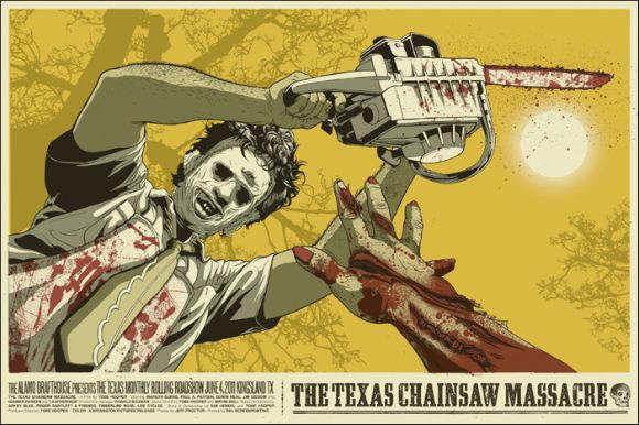 "The Alamo Drafthouse's poster company, MONDO, created posters for the Rolling Roadshow series, including one based on ""The Texas Chainsaw Massacre."" The company's posters will soon join the archives of the Academy of Motion Picture Arts and Sciences."