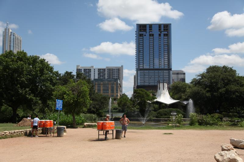 A $1 million grant from the state's park agency will pay for improvements to Auditorium Shores and the city's most popular trailhead.