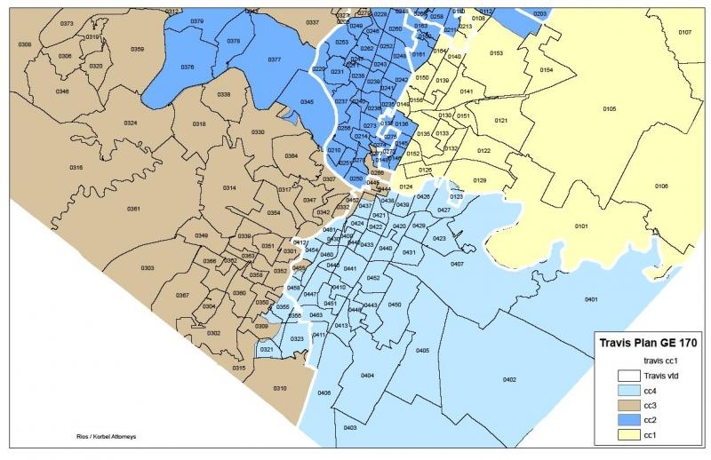 Map Courtesy of Travis County.
