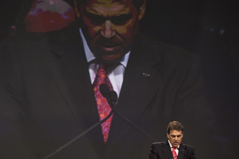 Gov. Perry at The Response prayer and fasting rally last Saturday.