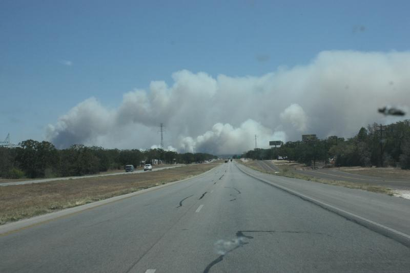 The wildfires in Central Texas, like this one in Bastrop County, have forced hundreds of people to evacuate their homes. Many organizations are accepting monetary and material donations to help the victims.