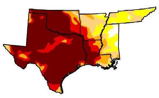 "U.S. Drought Monitor released its weekly drought map shows nearly 82 percent of the state is in ""exceptional drought."""