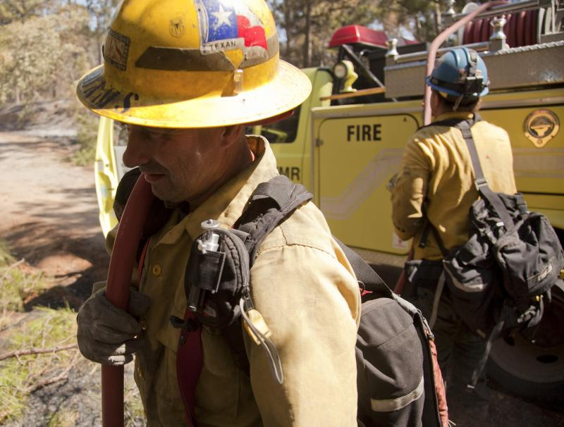Firefighters in Bastrop County are hoping stronger winds won't hurt efforts to contain the fire Wednesday.