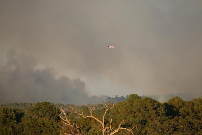 An image of the fire just hours after it broke out on October 4. The blaze is now 25 percent contained.