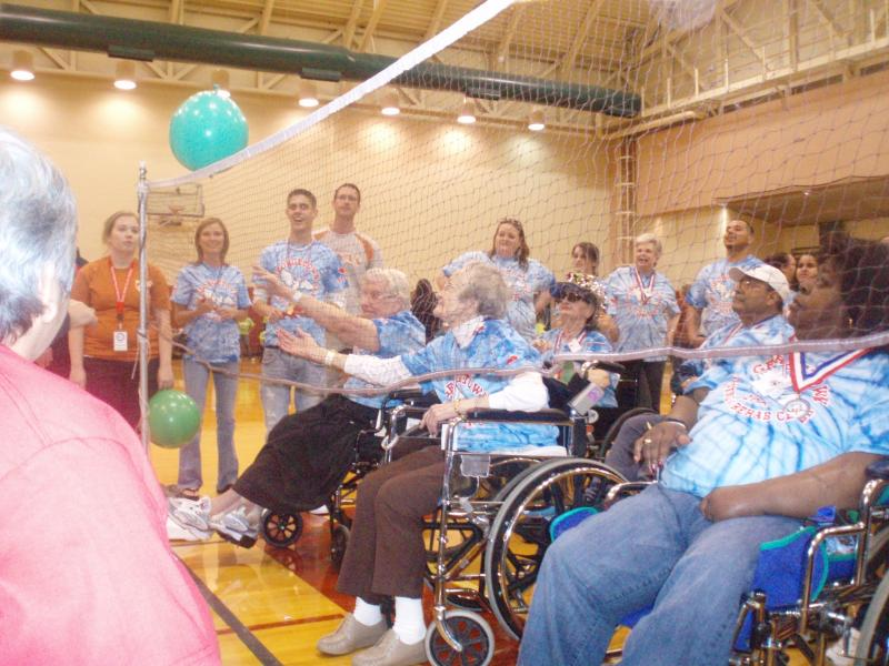 People living in Central Texas nursing homes and assisted living centers compete in games annually. President Obama pulled an insurance option out of the new healthcare law that would have given people money to help pay for nursing home costs.