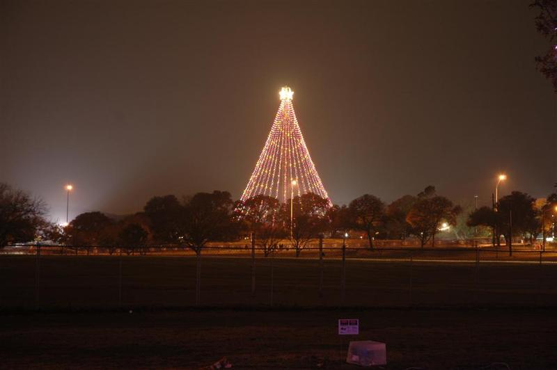 The Zilker Tree was strung today. It will not be switched on until December 4th, 2011.