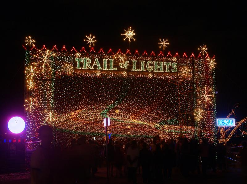 The Trail of Lights back in its heyday in 2006.
