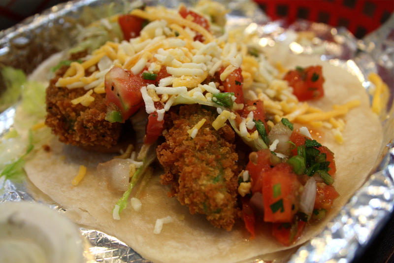 Torchy's fried avacado taco