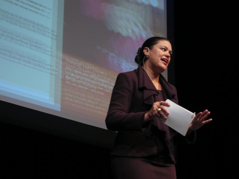 AISD superintendent Carstarphen delivered her 2011 State of the District address inside McCallum High School's new performing arts center.