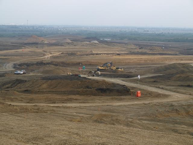 Construction on the Circuit of the America's track in southeast Austin as of June 2011
