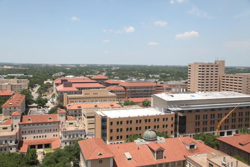 A view of campus from the UT Tower