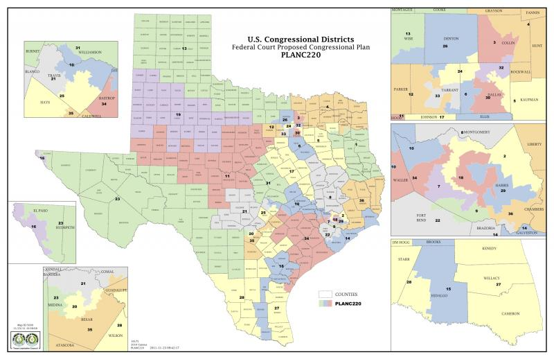 a panel of three federal judges in san antonio proposed new congressional districts for texas today it looks like u s rep lloyd doggett d austin