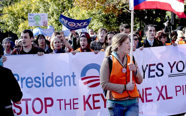 A protest against the Keystone XL in Washington DC November, 2011.