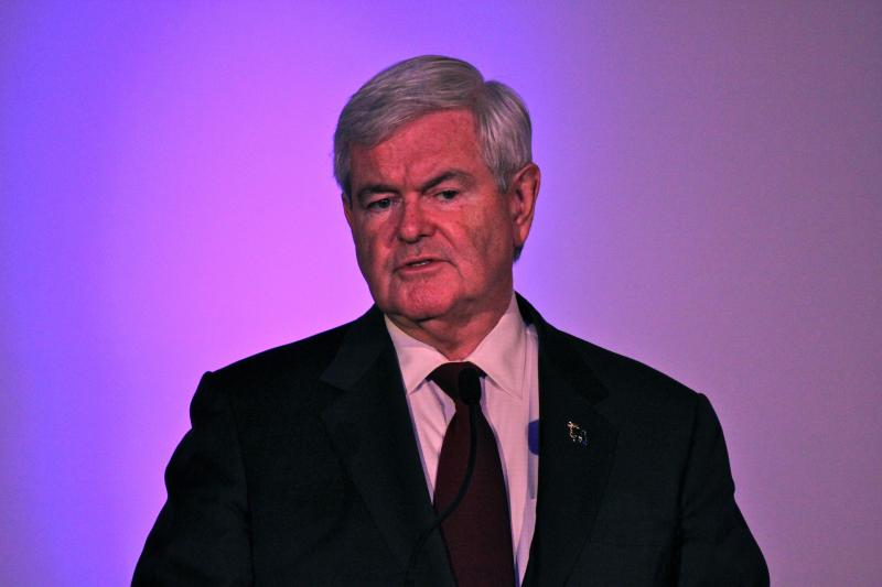 Newt Gingrich was attacked as the GOP front runner Saturday night.