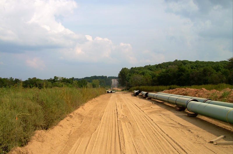 Keystone pipeline sections in Illinois have already been constructed.
