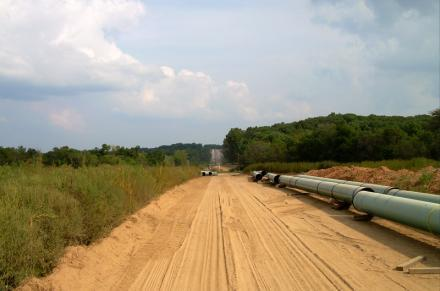 A section of the Keystone pipeline in Illinois that has already been constructed.