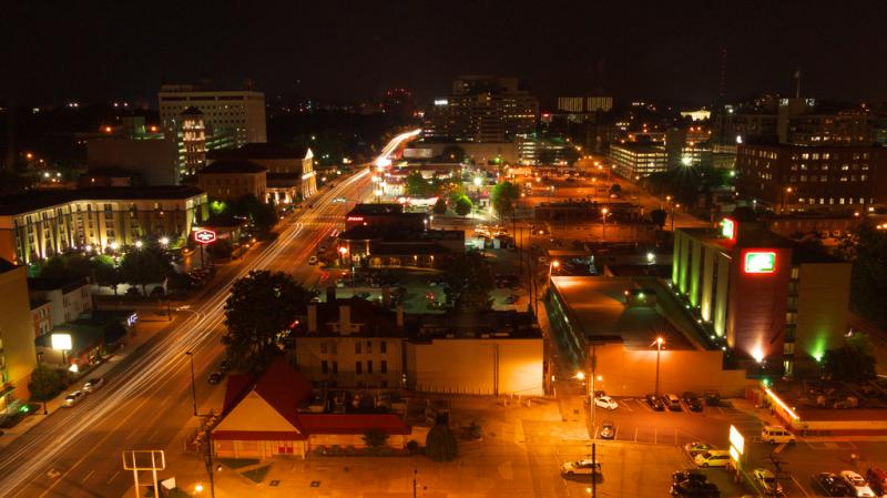 Nashville's West End at night