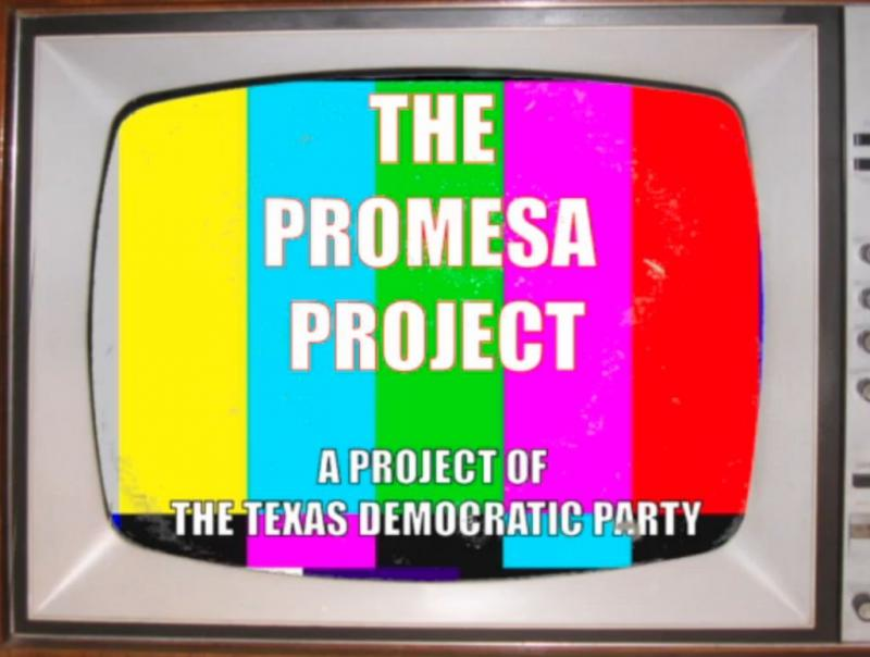 A still from a Texas Democratic Party web-video that hopes to use young Latinos to influence their families.