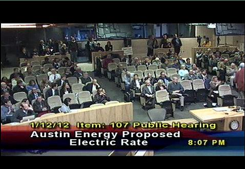 Over 100 people signed up to sound off on Austin Energy's proposed rate increase.