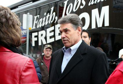"Gov. Rick Perry, on his ""Faith, Jobs and Freedom"" tour thorough Iowa last year."