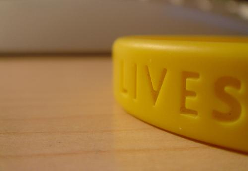 Nike came up with the signature Livestrong wristband.