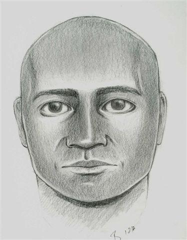 "A police sketch of the man who attacked two women on New Years Eve and is sought as a ""person of interest"" in the murder of Esmeralda ""Esme"" Barrera."