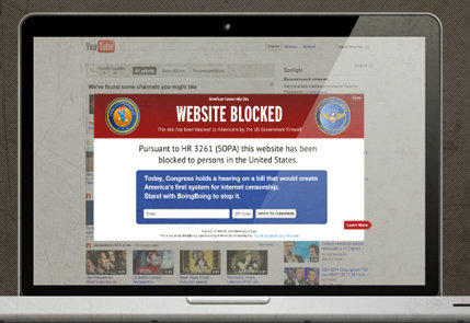 A YouTube free future? SOPA opponents fear a chilling effect on sites hosting user-generated content.