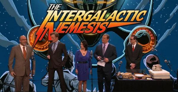 "The Austin theatrical experience known as ""The Intergalactic Nemesis"" in its Conan O'Brien appearance."