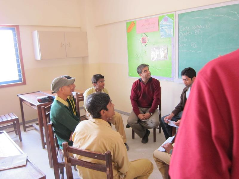 A group of 8th graders at an NGO school in Karachi.