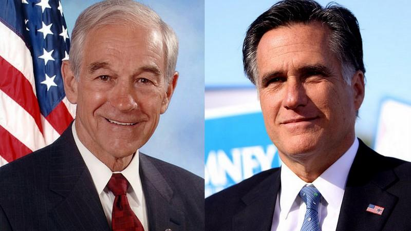 Opponents of the candidates allege a beneficial relationship between Ron Paul, left, and Mitt Romney.
