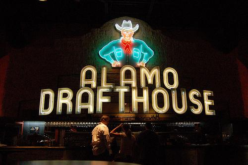Patrons at the Alamo Drafthouse's Lake Creek location.