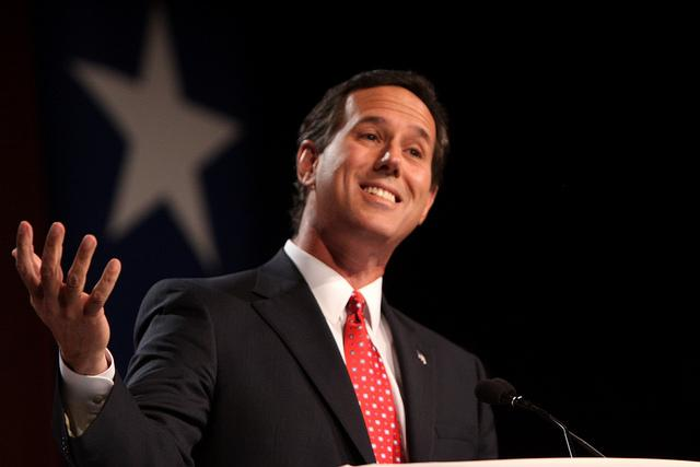 With 45%, Rick Santorum leads the GOP presidential primary in Texas.