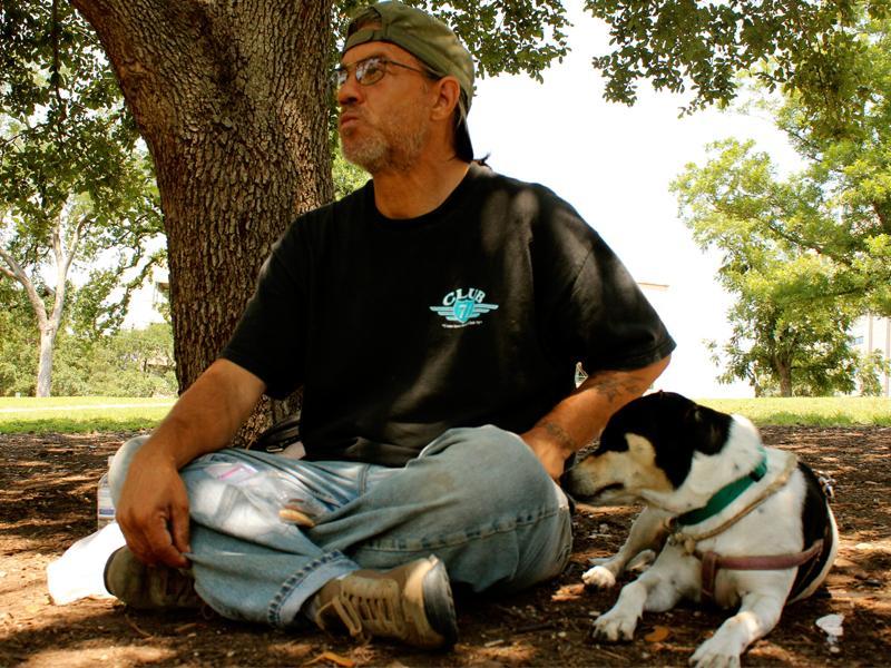 Woolridge regular Ken and his dog.