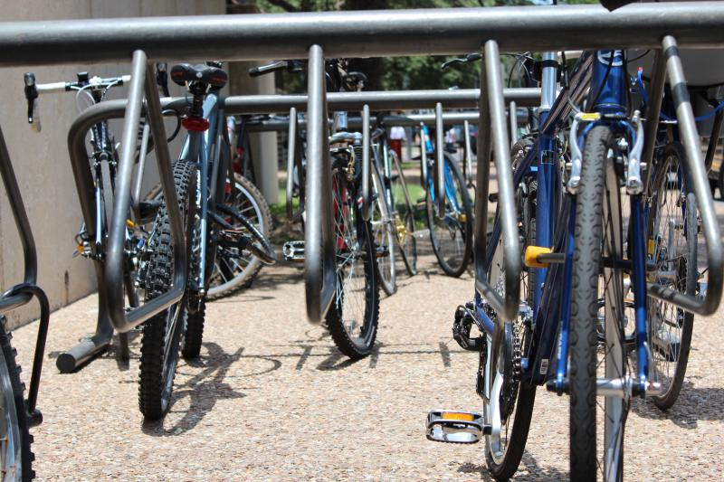 The University of Texas at Austin is encouraging students and staff to 'Bike to UT' today.