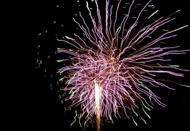 Fireworks over Auditorium Shores on 2009.