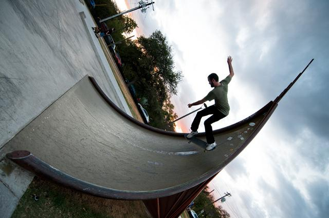 "Chris Levack's ""Iron Wave,"" at the Austin BMX and Skate Park."