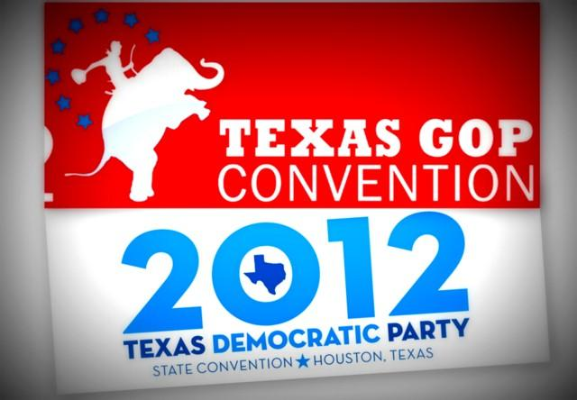 Republicans are gathering in Fort Worth starting today, while Democrats are getting together in Houston.