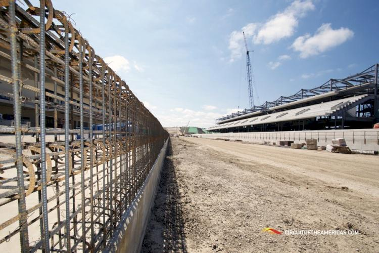 Construction of the Circuit of the Americas track continues.