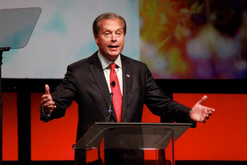 Lt. Gov. David Dewhurst speaking today at the state GOP convention in Fort Worth