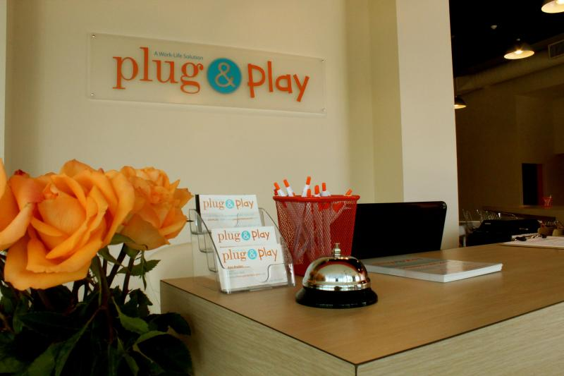 "Plug & Play offers supervised childcare along with ""coworking"" space for non-traditional workers."