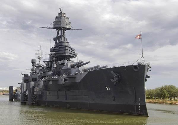 Crews are clamoring to plug a leak on the Battleship Texas.